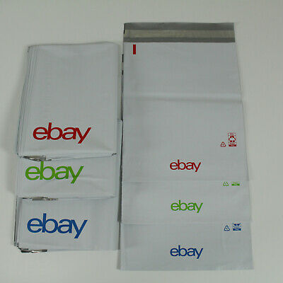 """100 Count - eBay-Branded Polymailer NEW Colors 10"""" x 12.5"""" (No padding)"""