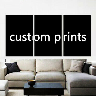 Custom Made Canvas Wall Art Picture 3 Pieces Customized Painting with your photo