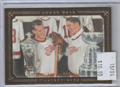 """Mr. Hockey 2008-09 UD Masterpieces #85 Red Wings """"MASTERPIECES"""""""