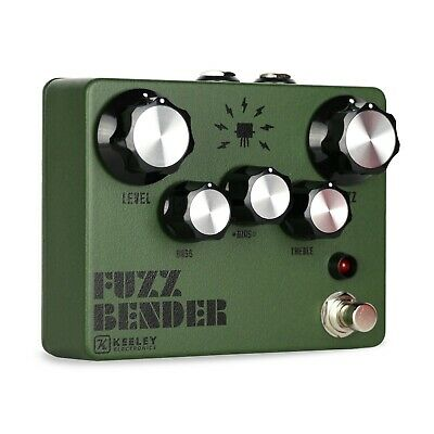 Keeley Fuzz Bender Guitar Effect Pedal - Custom Limited Color Army Green