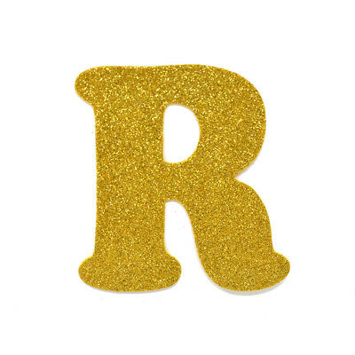 "EVA Glitter Foam Letter Cut Out ""R"", Gold, 4-1/2-Inch, 12-Count"