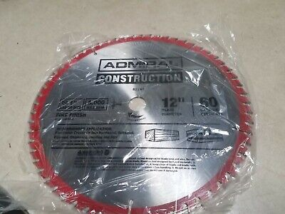 New ADMIRAL 12 in. 60T Fine Finish Circular Saw Blade 62741