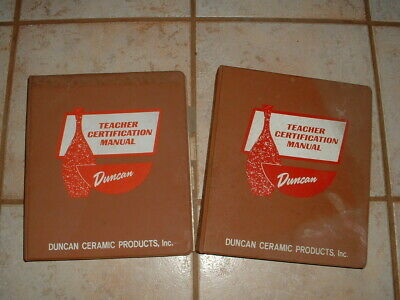 2 Vintage Duncan Ceramic Teacher Certification Manual Seminar Book/Binders