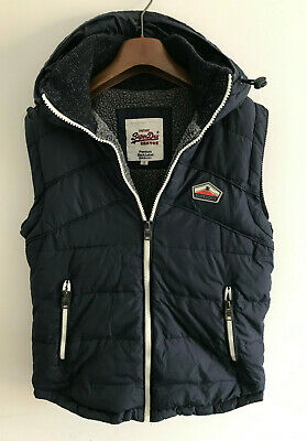 Superdry Body Warmer/Gilet! Mens S/M Blue Coat Jacket! 40-42 Chest Vest!