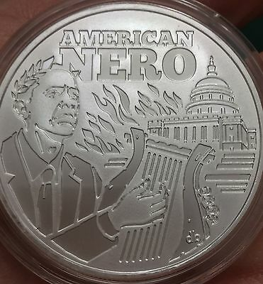 1 oz 2016 Seven Sins of Obama BU # 7 - American NERO Silver Shield Airtite + COA