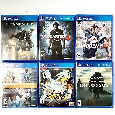 Sony PlayStation 4 Games Lot Of 6 Naruto Storm 4, Destiny Collection, Uncharted