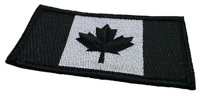 Tactical Canadian Flag Patch  Embroidered Sew On Applique Canadian