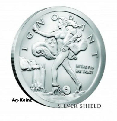 1 oz 2017 Blinded Liberty BU 999 Silver Shield With COA & Airtite Mintage 7874