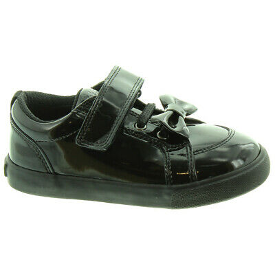 Kickers Tovni Lacer Infant Black Leather Shoes 1-14769