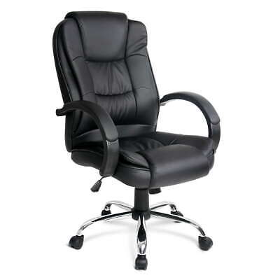 Artiss Executive Premium Leather Office Chair Home Computer Black Seating Chairs