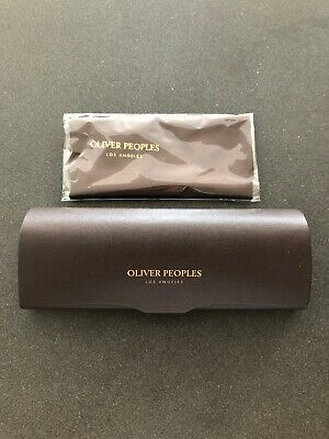 New OLIVER PEOPLES Eyeglasses Case (SMALL size) & Microfiber Cloth