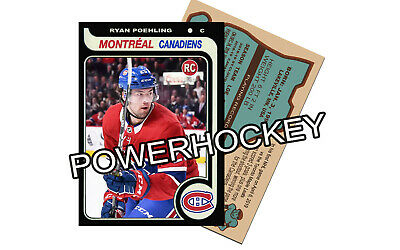 Custom RYAN POEHLING Montreal Canadiens Rookie RC Only 25 made!!  Black edition!