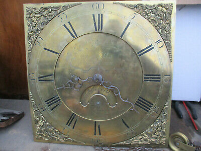 John Tibbot Newtown Wales brass Face Grandfather Clock Movement