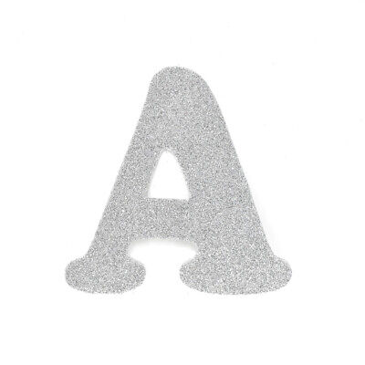 "EVA Glitter Foam Letter Cut Out ""A"", Silver, 4-1/2-Inch, 12-Count"