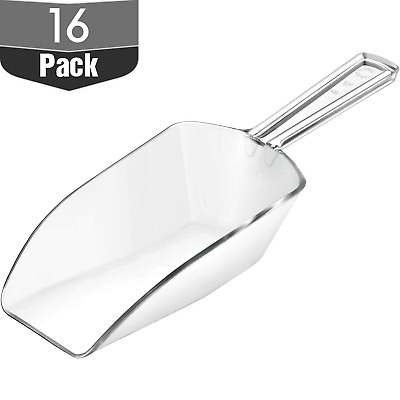 Multi-Purpose Plastic Clear Kitchen Scoops, Ice Scoop for Weddings, Candy Ice 16