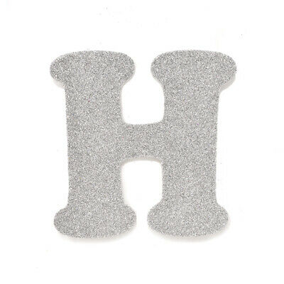 "EVA Glitter Foam Letter Cut Out ""H"", Silver, 4-1/2-Inch, 12-Count"