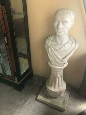 Large Julius Ceasar Statue Figurine Ornament Garden Sculpture On Pedestal