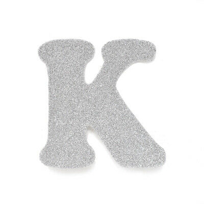 "EVA Glitter Foam Letter Cut Out ""K"", Silver, 4-1/2-Inch, 12-Count"
