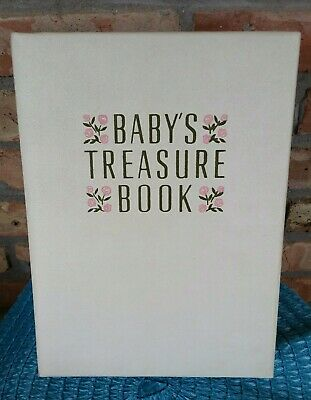 Vintage 1950s Mid Century Baby's Treasure Book Keepsake Box Girl Nursery Decor