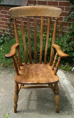 19th Century ELM WindsorLath Back Elbow Arm Chair DELIVERY POSSIBLE