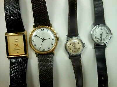 Lot of Vintage Timex Wind Up Watch WristWatches Mens and Womens Wristwatch