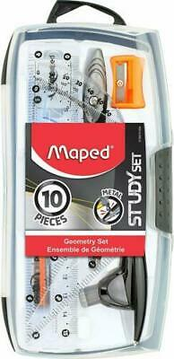 Maped Study Geometry 10 Piece Set Drafting Tools NEW