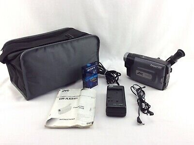 JVC Compact VHS-C Camcorder GR-AX841 5 Head System With New Tape Case & Charger