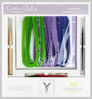 Create-a-Quill by Quilling Card Advanced DIY Kit Fair Trade Art Mindfulness