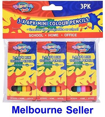 Mini Colouring Colour Pencils Schools Office Kids Birthday Party  Pencils