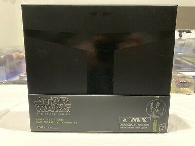 Star Wars Black Series Boba Fett & Han Solo Carbonite 2013 SDCC Exclusive