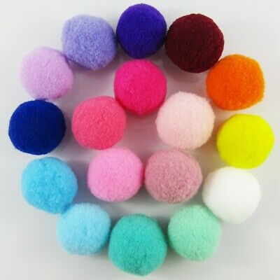 30pc 25mm Pom Pom Balls Earrings Keychains Hairclips Garlands & More 17 Colours
