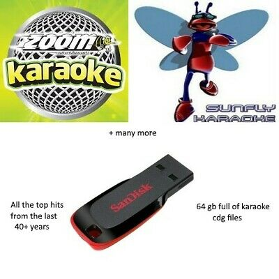 32gb of Karaoke Files On Flash Drive For Dj + Program For Playing