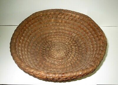 Large Primitive AMERICAN INDIAN - AUTHENTIC TRIBAL USED GATHERING BASKET Apache