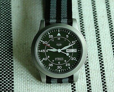 6caad34ff SEIKO 5 MEN Military Automatic Watch SNK803 SNK807 SNK805 SNK809 ...