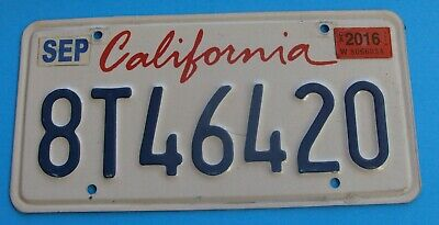 2016 California License Plate 420 Lipstick # 8T46 420 Tag Pot Weed 420