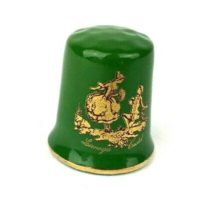 Limoges Castel Thimble Green and Gold Couple