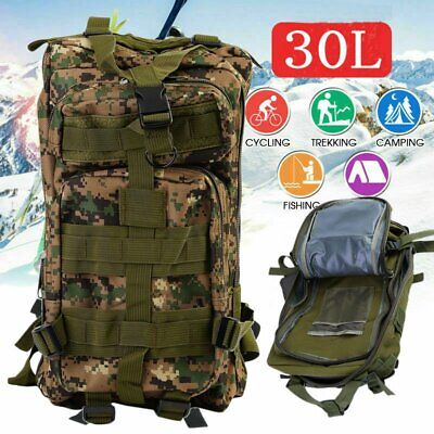 30L Outdoor Military Rucksacks Tactical Backpack Camping Hiking Trekking