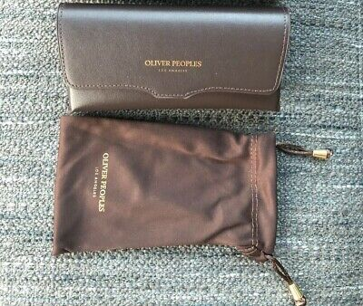 Oliver Peoples Eyeglasses Sunglasses Case With Microfiber Pouch