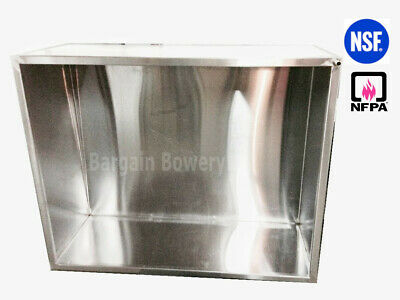 42 X 42 Restaurant Commercial Kitchen Heat Condensate Hood for Oven Dishwasher