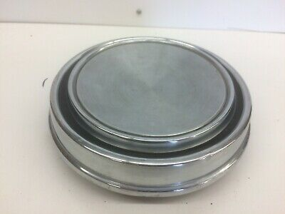 1967-1969 Mustang Torino Cougar Blank Polished Stainless Steel Hubcap Center Cap