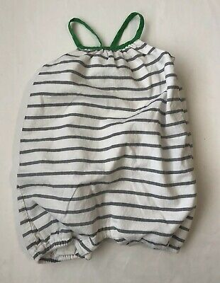 Baby Gap Infant Girl Striped Cotton Romper 6-12 Months
