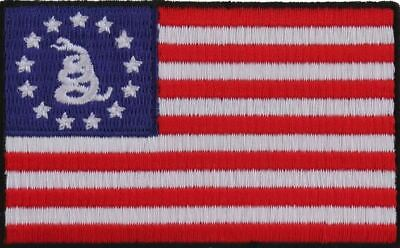 American Flag Patch - Betsy Ross With Gadsden - Iron Or Sew On Patch