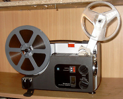 SUPER 8 STANDARD 8 SANKYO 1000H DUALUX SILENT MOVIE PROJECTOR 100w LAMP SERVICED