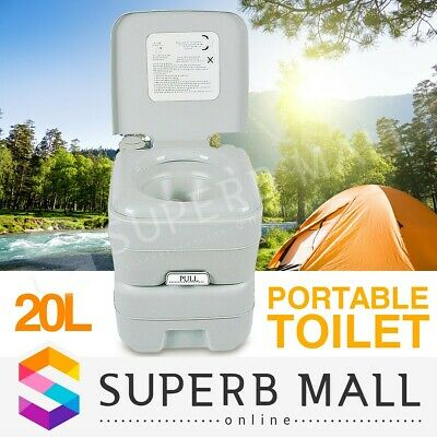 20L New Potty Portable Toilet Travel Camping Caravan 50 Flushes Outdoor Boating