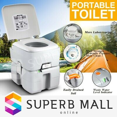 Outdoor Portable Toilet 20L Water Tank Flushing System Potty Caravan Travel Camp