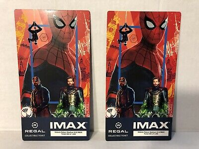 SPIDER-MAN FAR FROM HOME MARVEL Collectible Regal IMAX 2 Tickets