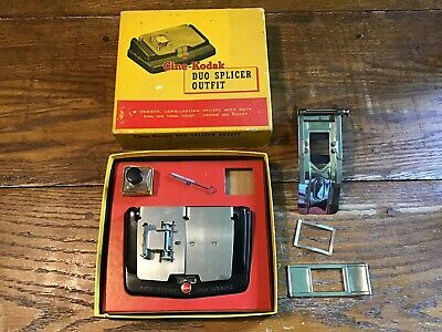 Cine-Kodak Duo Splicer Outfit Editing 8mm & 16mm Film Sound Silent Extra Parts