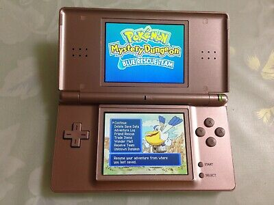 Nintendo DS Lite Console w/touch pen Navy Work Perfectly from JAPAN F/S