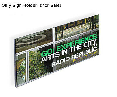 Acrylic Clear Wall Mount Sign Holder 16W x 6H Inches w/ Adhesive Tape -Box of 10