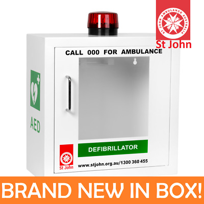 St John Ambulance Defibrillator AED Cabinet Box Case Station Alarmed Wall Mount